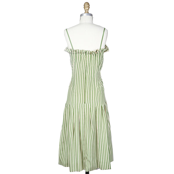Striped Pleated Dress circa 1960s