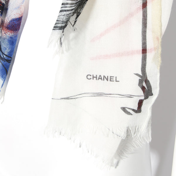Chanel Graffiti Love Scarf