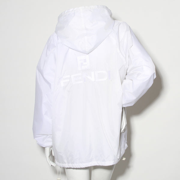 White Reflective Fendi Jeans Windbreaker