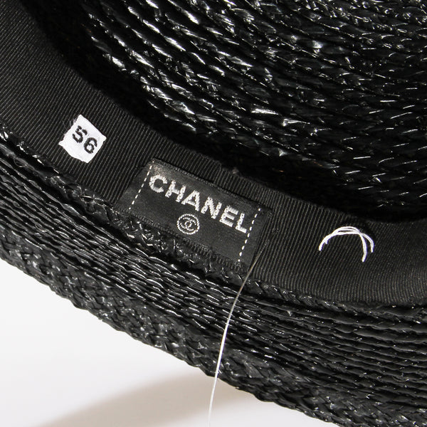 Chanel Black Straw Bolero