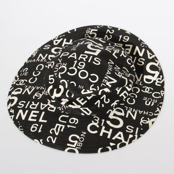 2002 Chanel Text Sun Hat