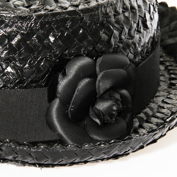 Chanel Woven Rose Hat