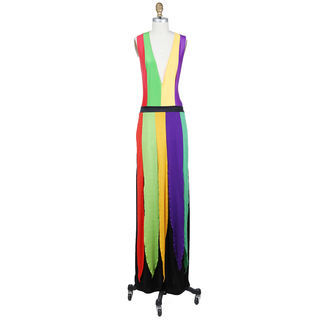 STRIPED JERSEY DRESS circa 1970s