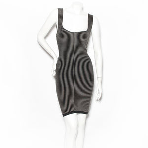 Alaia Textured Knit Mini Dress