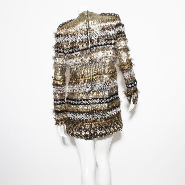 2011 Mirrored Sequin Dress