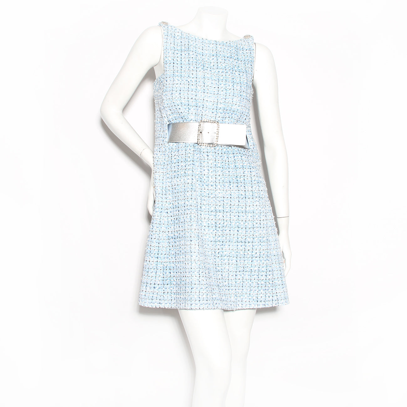 Chanel Fantasy Tweed Belted Dress