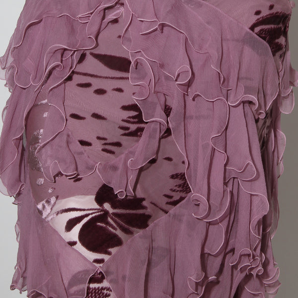 Sheer Purple Dior Skirt Set