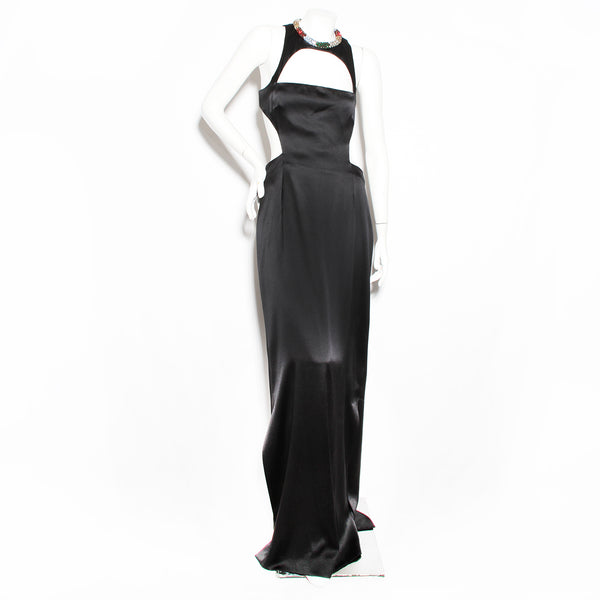 McQueen Silk Jeweled Gown