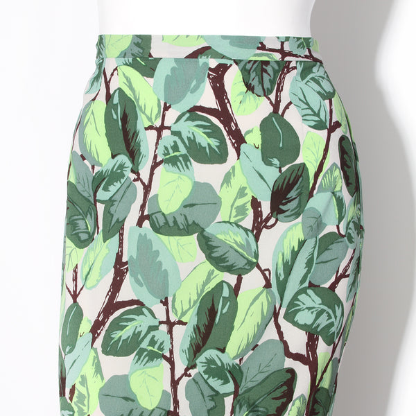Dolce and Gabbana Leaf Maxi Skirt