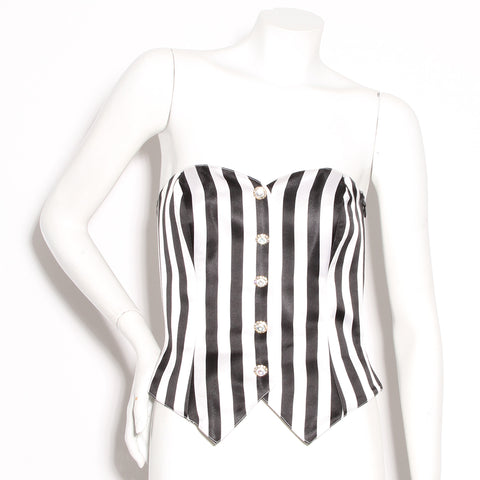 Escada Couture Striped Bustier