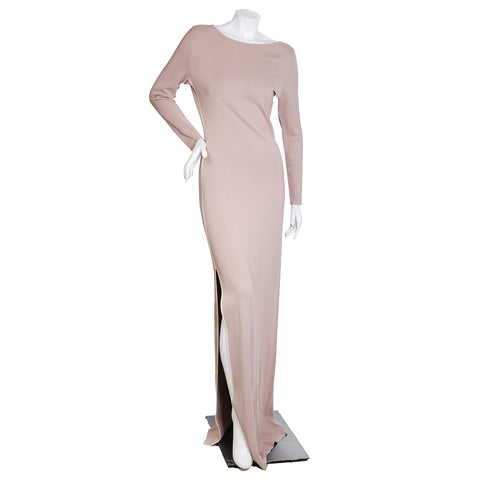 Stretch Knit Gown in Nude