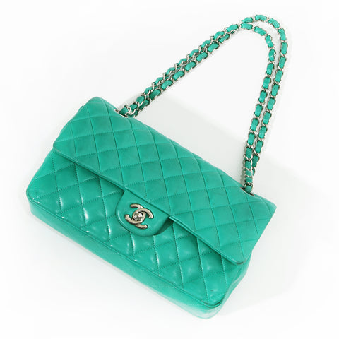 Chanel Classic Flap Green Handbag