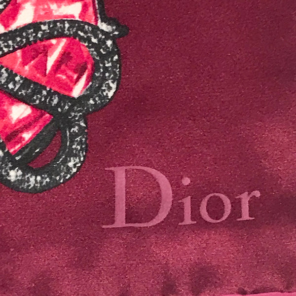 Christian Dior Silk Ruby Ring Scarf