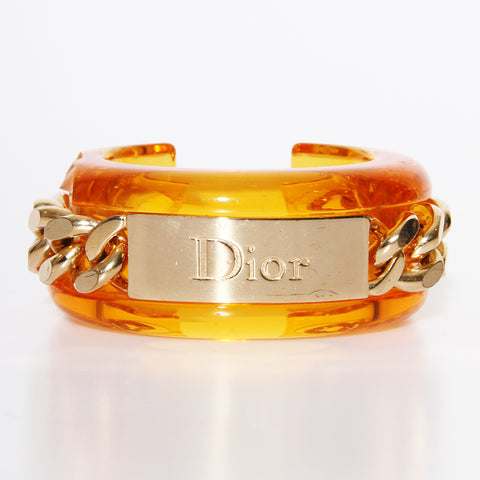 Dior Lucite Chain Bangle
