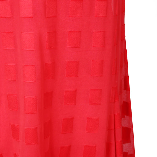 Sleeveless Dress with Geometric Squares Pattern