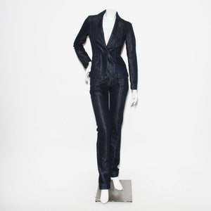 Dark Sparkle Denim Dior Suit