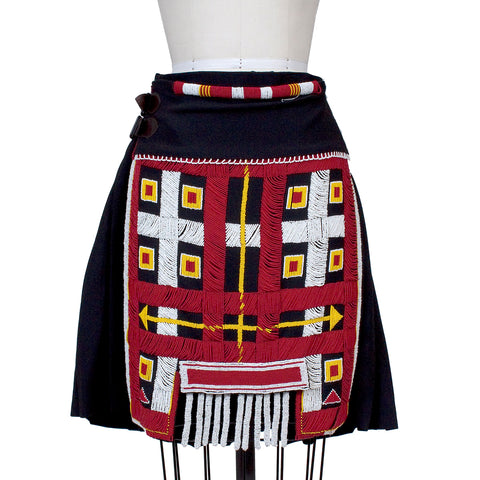 JPG 'Le 3e Millenaire Sera Amour' Beaded Skirt