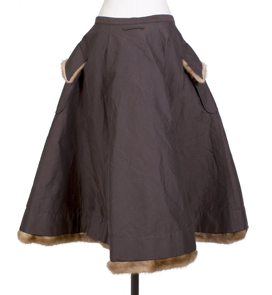 Skirt with Fur Trim