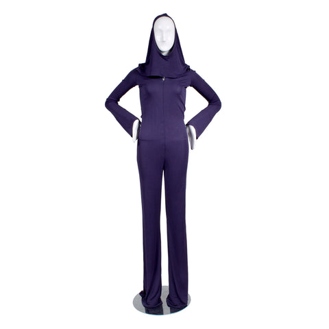 JPG Purple Jumpsuit With Cutout Hood