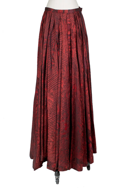 Red and Black Gothic Print Skirt, Fall 1998