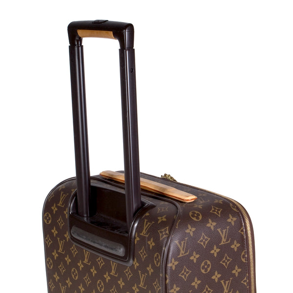 Pegase 45 Monogram Brown Leather Rolling Suitcase
