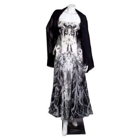 Strapless Gown with B&W Photographic Print, 2010