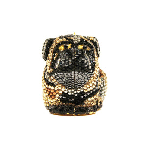 Crystal Bulldog Pill Box