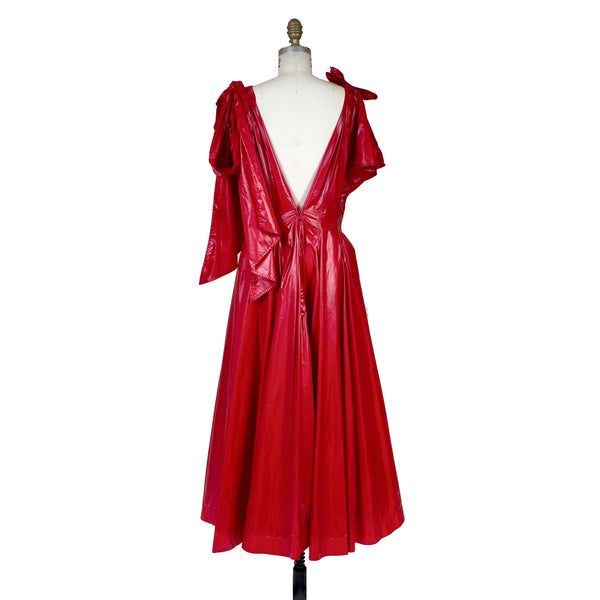 Calvin Klein Red Vinyl Dress