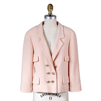 Blush Pink Double Breasted Wool Jacket, Spring 1999