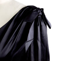 Black Silk Dress with Ties at Shoulder, 2003
