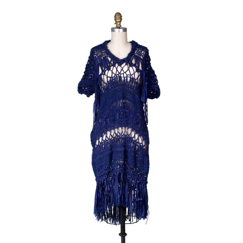 Royal Blue Crochet Dress