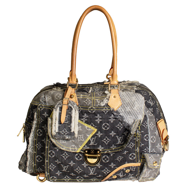 LV Monogram Denim Patchwork Bowly Shoulder Bag (2007)