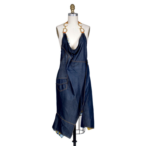 Denim CD Halter Dress