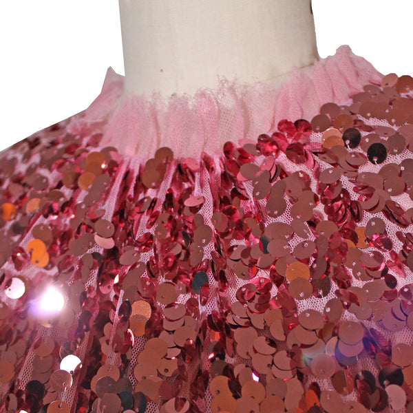 Dolce and Gabbana Pink Sequin Dress