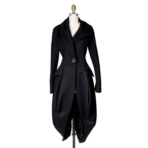Black Wool Coat, circa 1990s