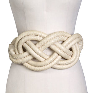 McQueen for Givenchy Braided Snake Belt