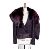 Cropped Wool Jacket with Detachable Fur, Fall 2004