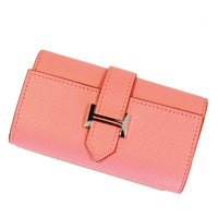 Hermes Bearn Key Holder in Epsom Rose Confetti