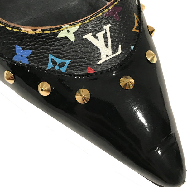LV Multicolor Monogram Slingback Pumps
