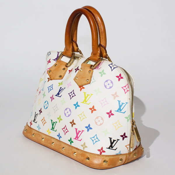 LV White Monogram Alma Bag
