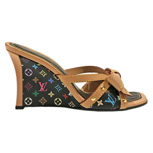 LV Multicolor Monogram Wedges