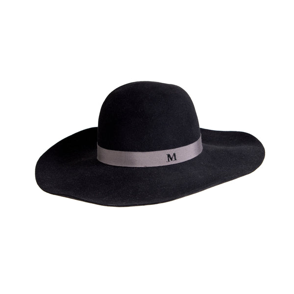 Black Wool Chapeau