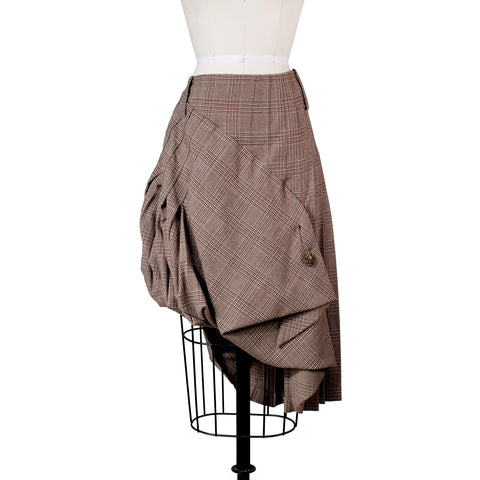 Plaid Skirt with Asymmetrical Cascade Pleating and Folding, Fall 2006