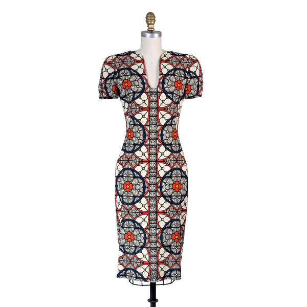 McQueen Stained Glass Print Dress, Contemporary