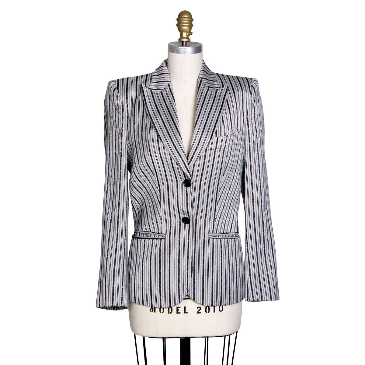Pinstripe Blazer with Text Striping, vintage