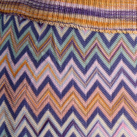 Vintage Knit Skirt with Zig Zag Pattern