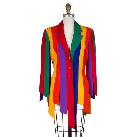 Moschino Rainbow Car Wash Jacket