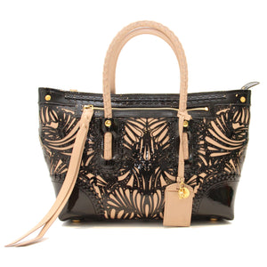 698a30899bac McQueen Laser-Cut Patent Leather Tote