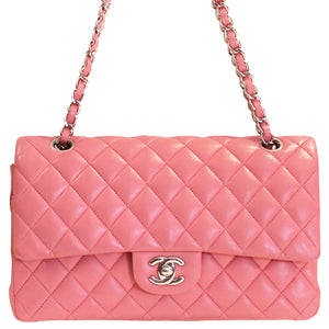Chanel Pink Quilted Medium Classic Double Flap