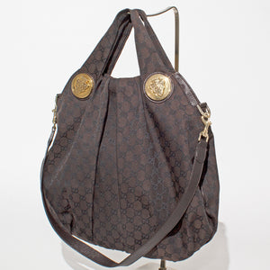Brown Gucci Monogram Satchel